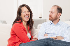 Couple together having fun Royalty Free Stock Image
