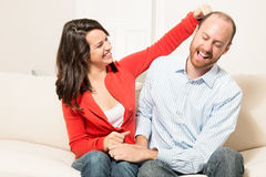 Couple together having fun Royalty Free Stock Photos