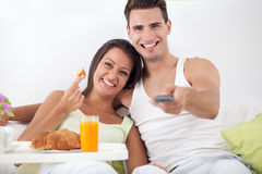 Couple together in morning Stock Photo