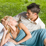 Couple together, outdoors Stock Photo