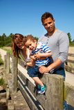 Couple Together with their Little Son Outdoors Royalty Free Stock Photo