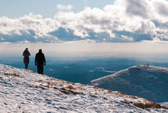 Couple on top of the mountain Royalty Free Stock Photography