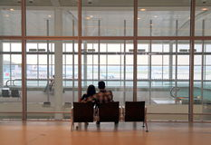 Couple at the Toronto Pearson Airport Stock Images