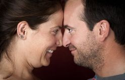 Couple touching noses Royalty Free Stock Images