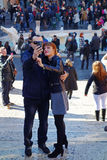 Couple Tourist Tourists Selfie Rome Royalty Free Stock Images