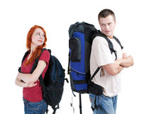 Couple tourists Royalty Free Stock Images