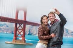 Couple tourists taking selfie photo San Francisco Royalty Free Stock Image