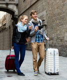 Couple of tourists Stock Photography