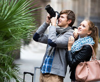Couple of tourists Royalty Free Stock Images