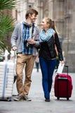 Couple of tourists Stock Image