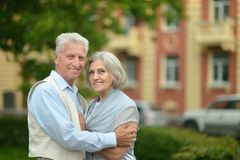 Couple in town Stock Photography