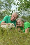 Couple  with toy sheep Royalty Free Stock Photography
