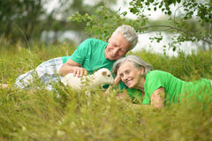 Couple with toy sheep Royalty Free Stock Photos