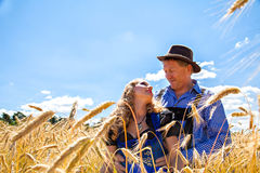 Couple in traditional Bavarian Tracht Royalty Free Stock Image