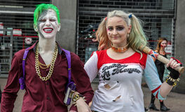 Couple in traditional costumes in Zombie Walk Sao Paulo Royalty Free Stock Photos