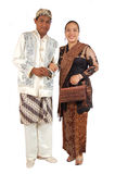 Couple with traditional dress. Tourism, couple with traditional dress from Java Indonesia royalty free stock image