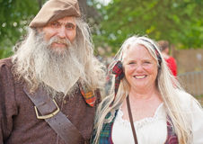 Couple in traditional Scottish dress Royalty Free Stock Photography