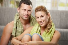 Couple after training Royalty Free Stock Photography