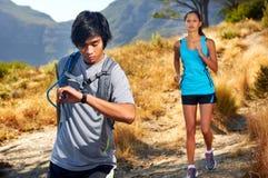 Couple training fitness Stock Photos