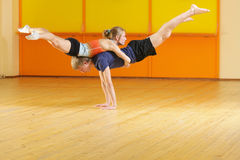 Couple training in gym Stock Image