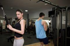 Couple training at gym Stock Photo