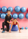 Couple Training in a Gym Stock Photography