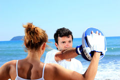 Couple traning boxing Royalty Free Stock Photography