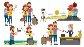 Couple travel Stock Photography
