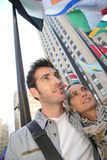 Couple on a travel sighsteeing new york Stock Photography