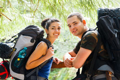 Couple Traveling Stock Image