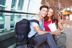 Couple traveling together Stock Photos