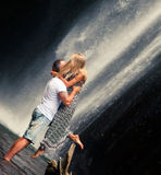 Couple travels to Bali Stock Image