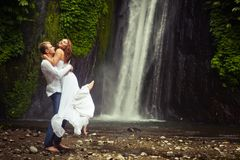 Couple travels to Bali Royalty Free Stock Photo