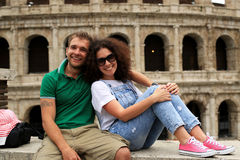 Couple travels to Italy Royalty Free Stock Photography