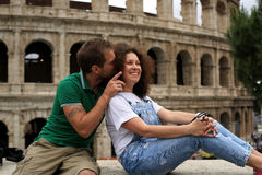Couple travels to Italy Royalty Free Stock Image