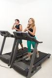 Couple on Treadmill Stock Photo