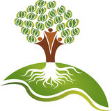 Couple tree logo vector illustration