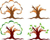 Couple tree logo Royalty Free Stock Photo