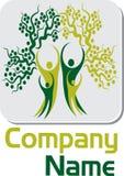 Couple tree logo. Illustration art of a couple tree logo with isolated background Stock Images