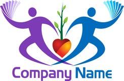 Couple tree logo. Illustration art of a couple tree logo with isolated background Stock Photography