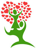 Couple tree with loving hearts Royalty Free Stock Images