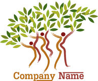 Couple tree symbol Stock Image