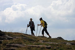 Couple trekking Royalty Free Stock Image