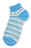 Couple of trendy blue striped socks Royalty Free Stock Photo