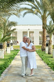 Couple at tropic hotel Royalty Free Stock Images