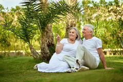 Couple at tropic hotel Royalty Free Stock Photography