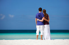 Couple on tropical beach Stock Photography