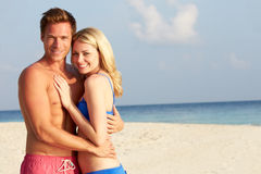 Couple On Tropical Beach Holiday Stock Photography