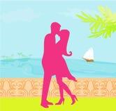 Couple on tropical beach Stock Photos