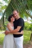 Couple in a tropical garden Royalty Free Stock Photography